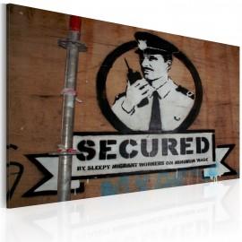 Tableau - Sécurisé (Banksy)