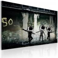 Tableau   Danse de TV têtes (Banksy)