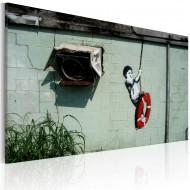 Tableau  Garçon sur une balançoire (Banksy)