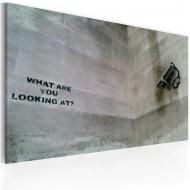 Tableau  Questce que tu regardes? (Banksy)