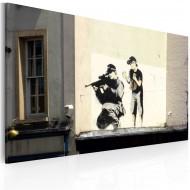 Tableau  Tireur et garçon (Banksy)
