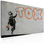 Tableau  Papier peint graffiti (Banksy)