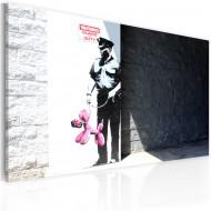 Tableau  Plicier et chien rose (Banksy)