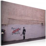 Tableau  Suivez vos rêves annulé (Banksy)
