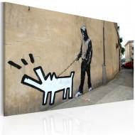 Tableau  Chien qui aboie ne mord pas (Banksy)