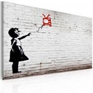 Tableau  Fille avec TV (Banksy)