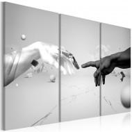 Tableau  Toucher en noir et blanc