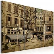 Tableau  Fontaine parisienne en sépia