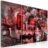 Tableau  Londres rouges