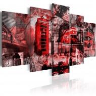 Tableau  Collage  5 pièces