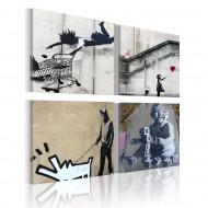 Tableau  Banksy  quatre idées créatives