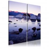 Tableau  Rivage rocheux de lac alpin