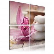 Tableau  Orchidée et zen
