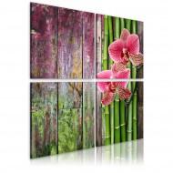 Tableau  Bambou et orchidée