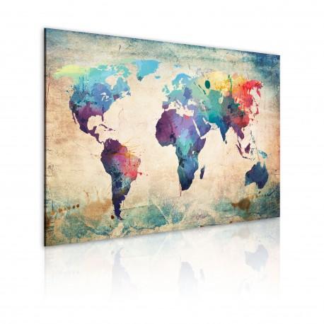 Tableau  Carte en couleurs de larcenciel