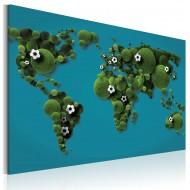 Tableau  Continents ronds comme un ballon