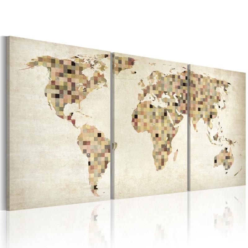 tableau carte du monde carr s beaux meubles pas chers. Black Bedroom Furniture Sets. Home Design Ideas