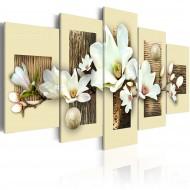 Tableau  Texture et magnolia