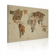 Tableau  Carte du Monde (langue allemande)