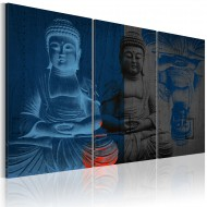 Tableau  Bouddha  sculpture