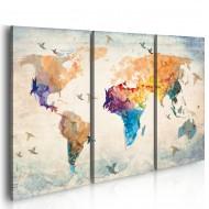 Tableau  Free as a bird  triptych