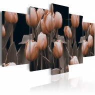 Tableau  Tulipes en sépia