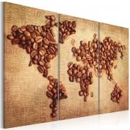 Tableau  Cafés du monde  triptyque