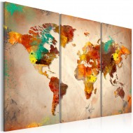 Tableau  Painted World  triptych
