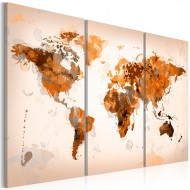 Tableau  Map of the World  Desert storm  triptych