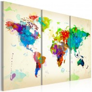Tableau  All colors of the World  triptych