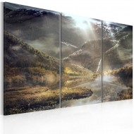 Tableau  The land of mists  triptych