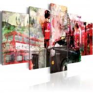 Tableau  Mémoires de Londres  5 pièces