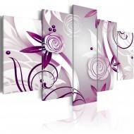 Tableau  Roses violettes