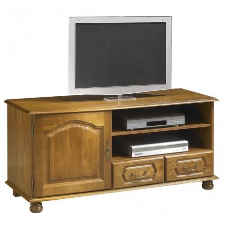 meuble banc tv ch ne 1 portes 2 tiroirs. Black Bedroom Furniture Sets. Home Design Ideas