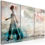 Tableau  Create yourself  triptych