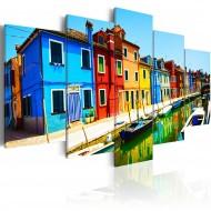 Tableau  Maisons aux couleurs de larcenciel