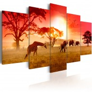 Tableau  Sunny colours of Africa