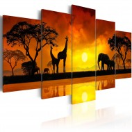 Tableau  Savanna  sunset