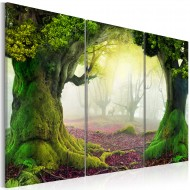 Tableau  Mysterious forest  triptych