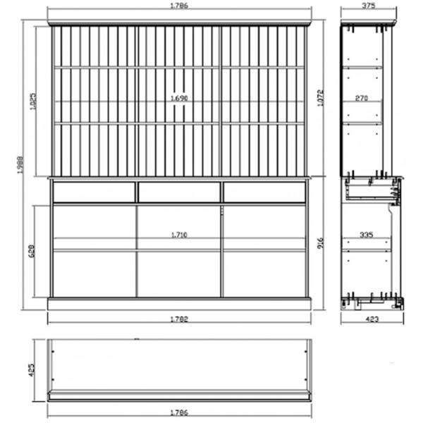 Anglais Pere Meuble Tv : Bibliothèque Blanche – Vaisselier Blanc 6 Portes Coulissantes