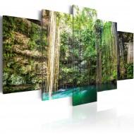 Tableau  Cascade parmi des arbres