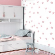Papier peint  Pink Stars