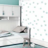 Papier peint  Stars  Aquamarine