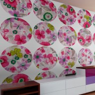 Papier peint  Pink meadow  circle