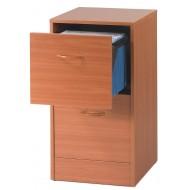 Classeur 2 tiroirs pour dossiers suspendus Merisier