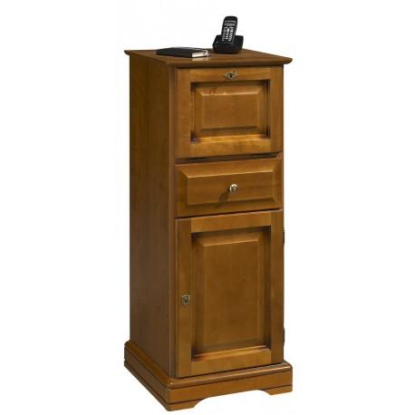 Meuble d'entrée, meuble téléphone merisier Louis Philippe