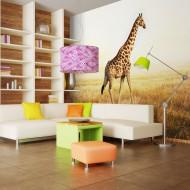 Papier peint  girafe  promenade