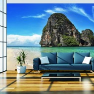 Papier peint  Paysage exotique  plage Railay, Thaïlande