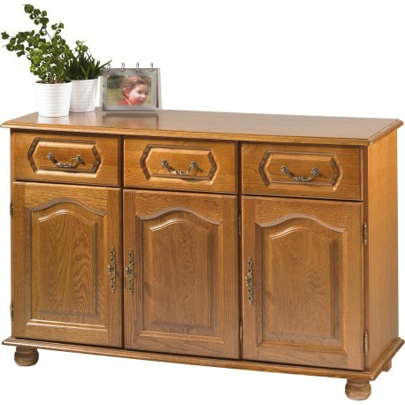 Buffet bas ch ne 3 portes 3 tiroirs beaux meubles pas chers for Buffet bas pour cuisine