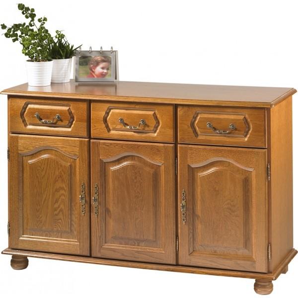 Buffet bas ch ne 3 portes 3 tiroirs beaux meubles pas chers - Bahut cuisine pas cher ...
